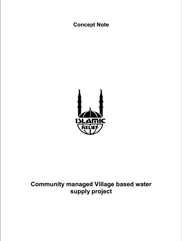 Community managed Village based water supply project