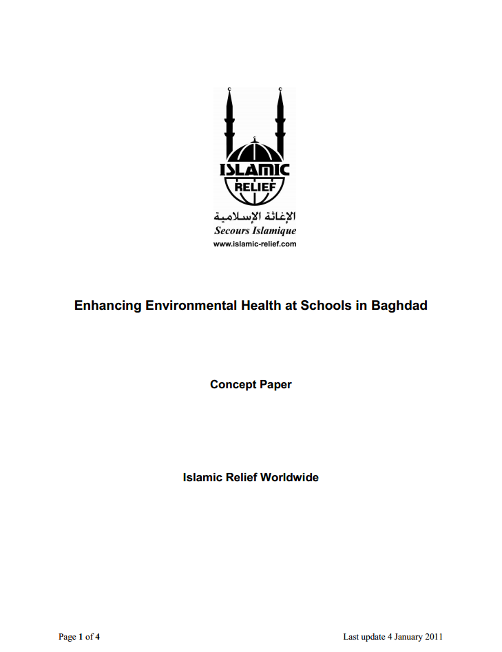 Enhancing Environmental Health at Schools in Baghdad