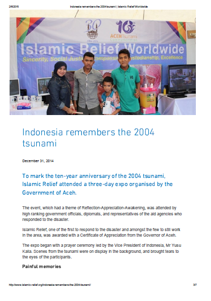 Indonesia remembers the 2004 tsunami