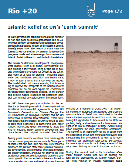 Islamic Relief at UN's Earth Summit