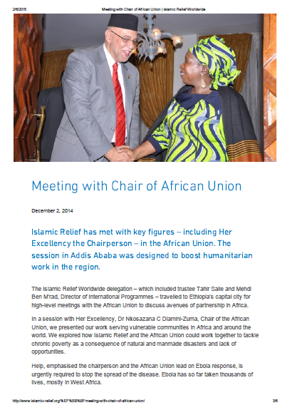 Meeting with Chair of African Union