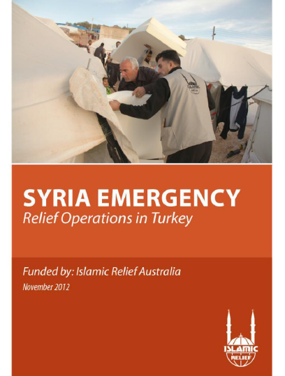Syria Emergency relief operations turkey
