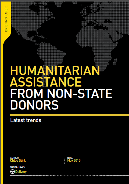 Humanitarian Assistance from non state donors