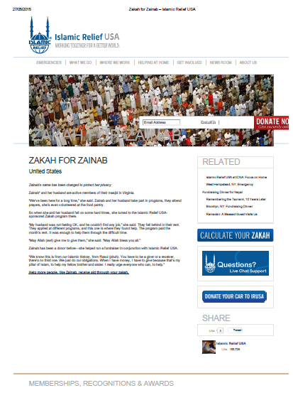 Zakah for Zainab