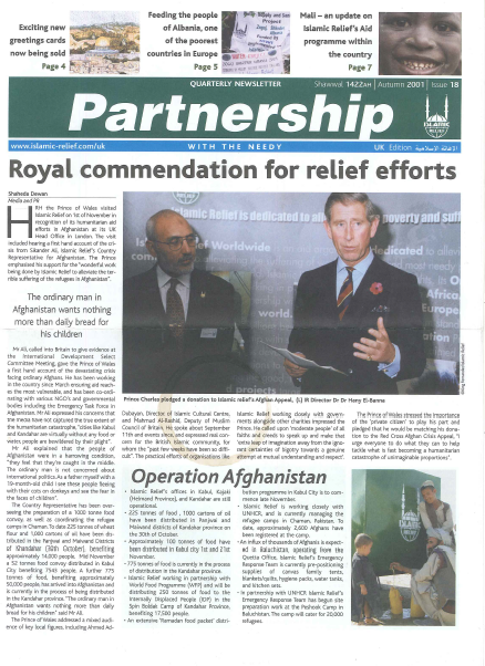 Partnership Autumn 2001 Issue 18