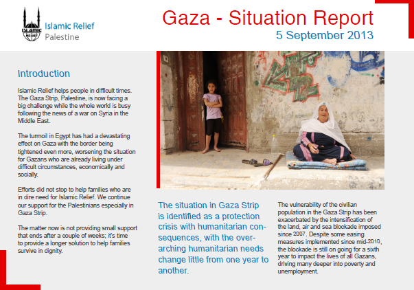 Gaza situation report