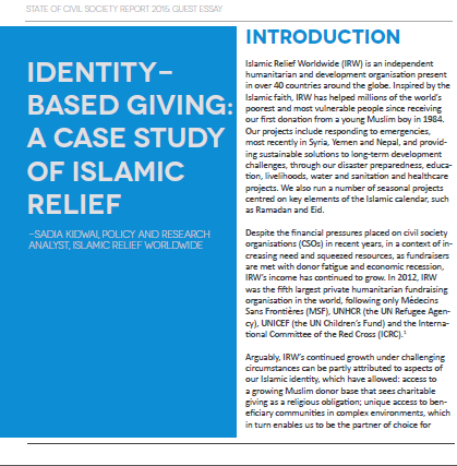 Identity based giving  a case study