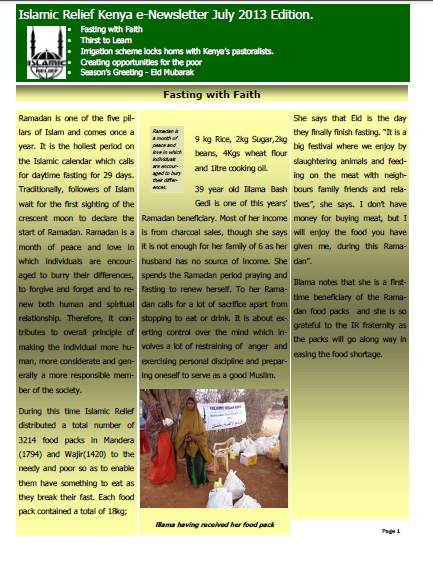 fasting with faith july 2013
