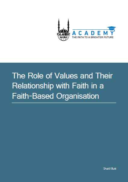 The role of values and their relationship with Faith in a Faith Based Organisation
