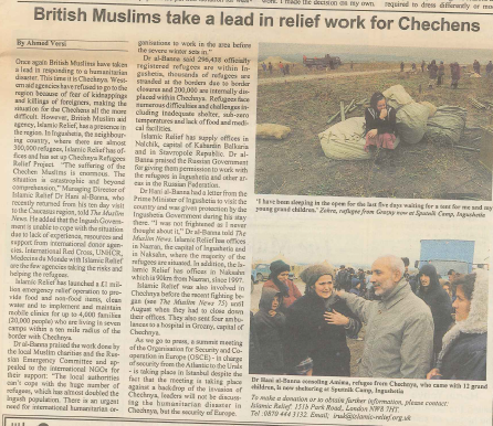 British Muslims take a lead